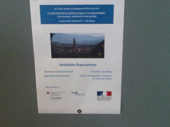 Journées ATM Juin 2011 Université de Fribourg